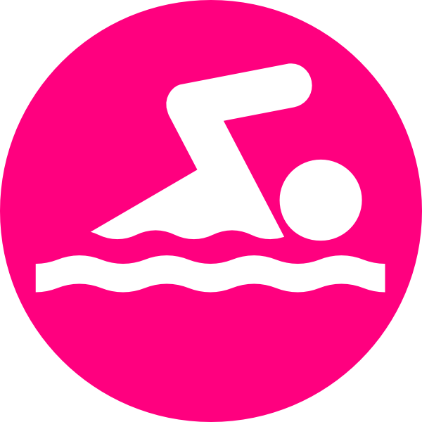 svg black and white Pink clip art at. Swimmer clipart
