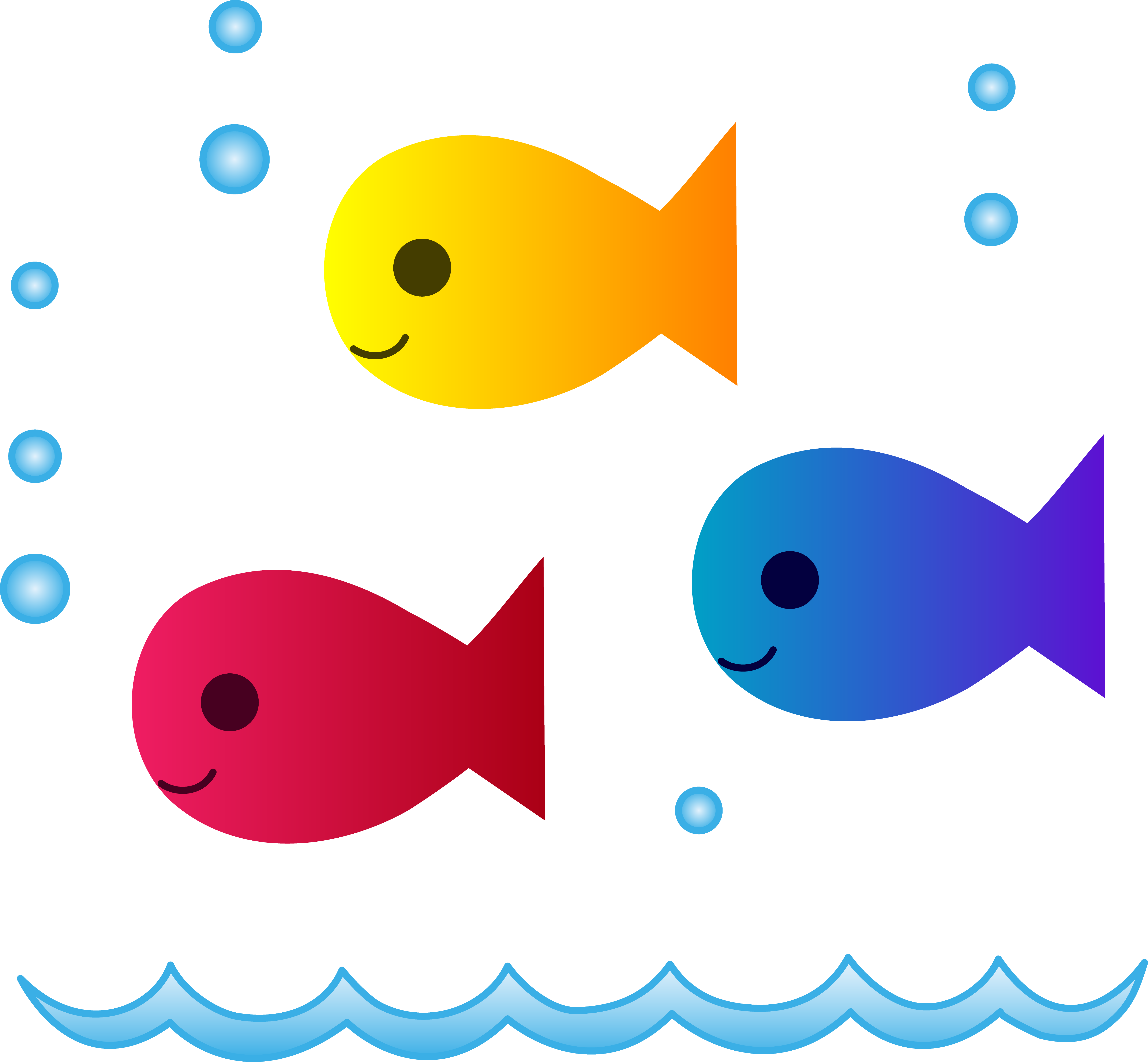 image library download School of swimming free. Cute fish clipart