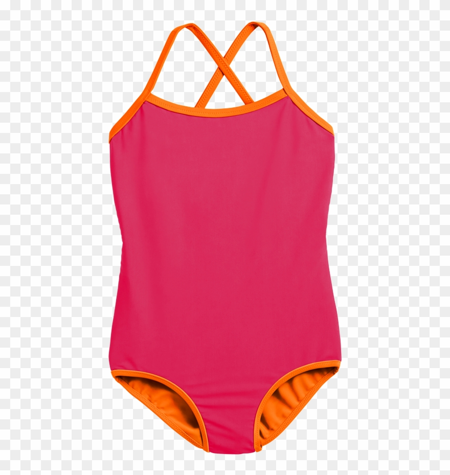 banner Kids swimsuit clipart. Child wearing the reversible
