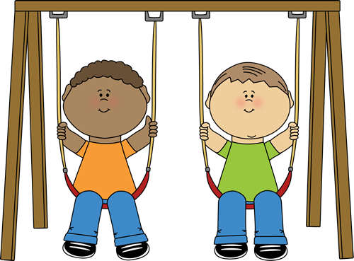 clip art freeuse download Kids on a clip. Swing clipart
