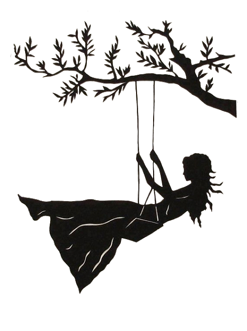 jpg black and white stock Silhouette Swing Drawing Art