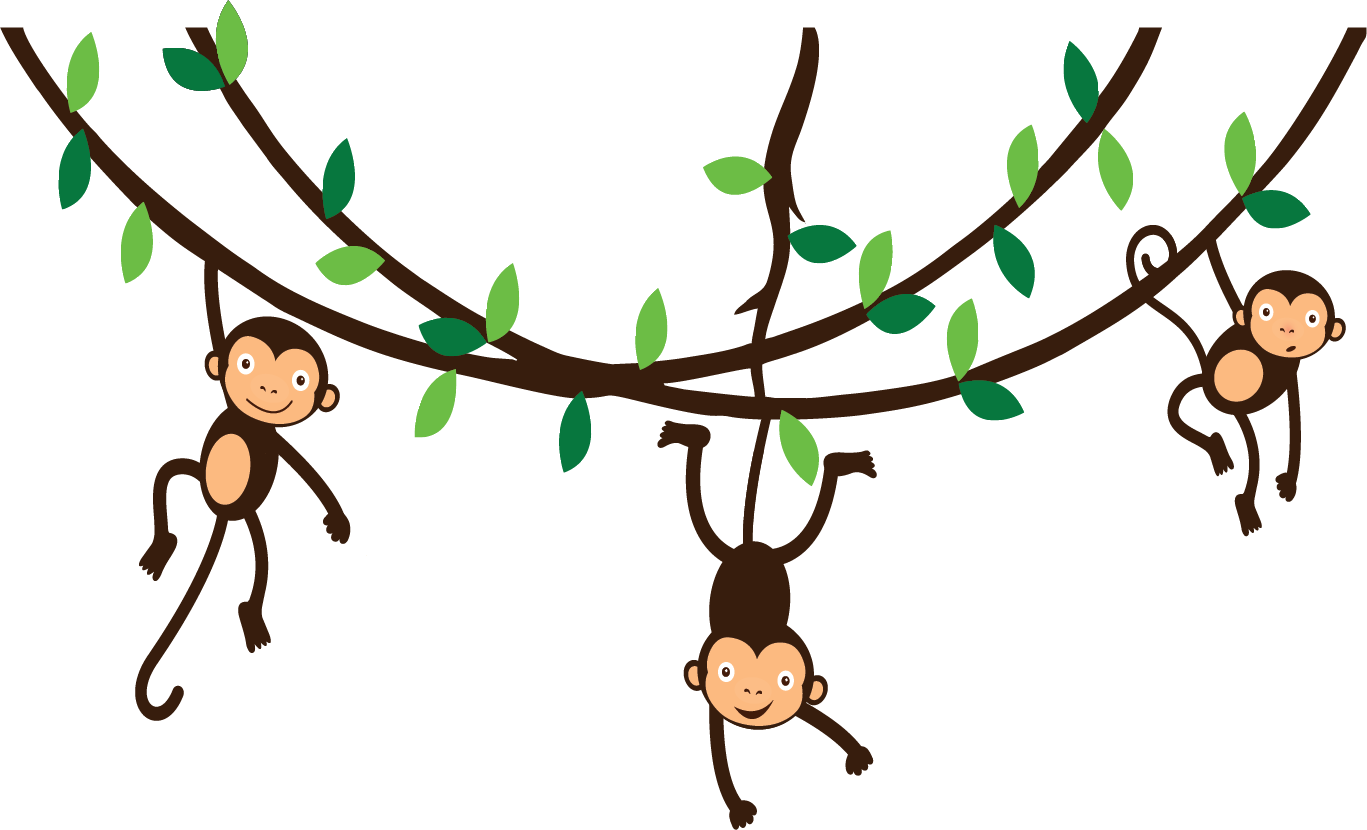 picture  collection of monkey. Ape clipart tree.