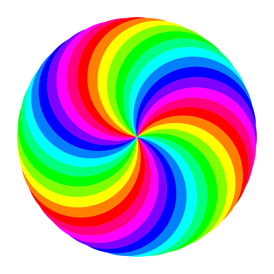 image freeuse stock Swirls Clipart rainbow