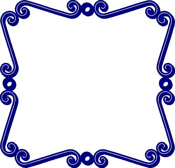 vector library Blue Swirl Frame Clip Art at Clker