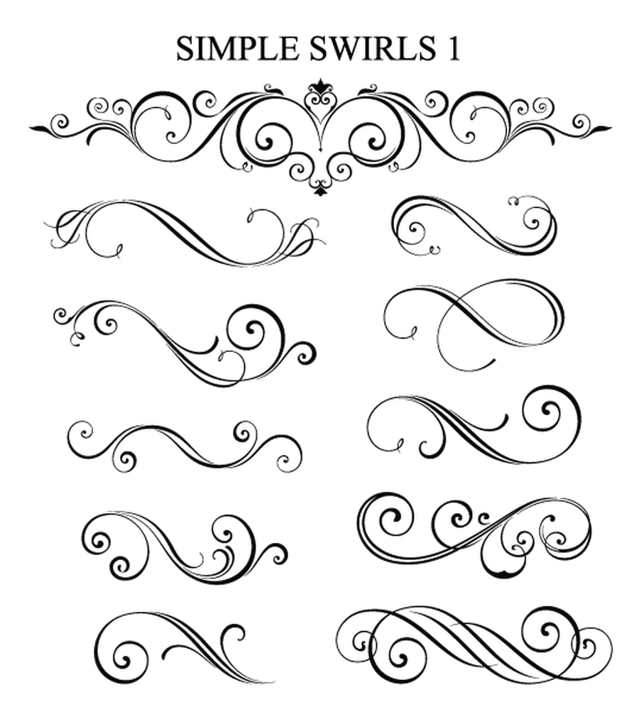 clip free swirl drawing calligraphy #104413696