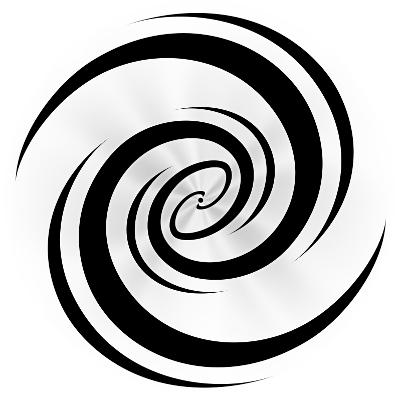 vector black and white swirl drawing galaxy #104411972