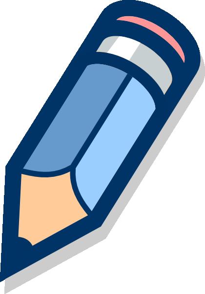 svg freeuse stock Blue Pencil Clip Art at Clker