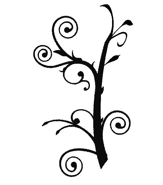 image swirl drawing vine #104421980
