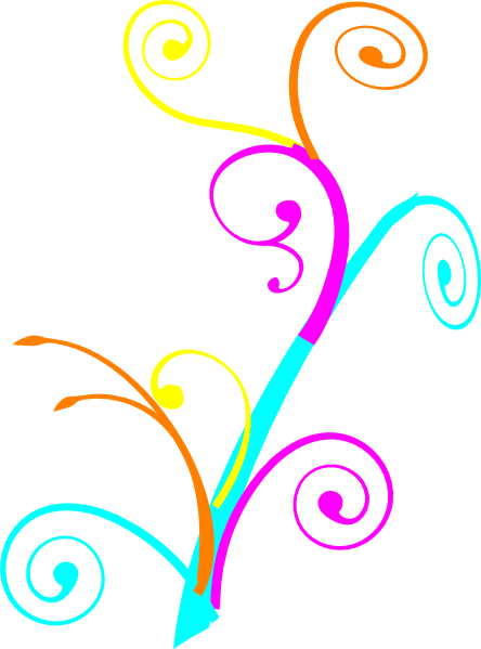 graphic transparent stock Colorful Swirl Clipart