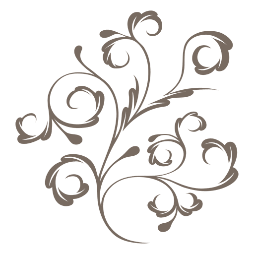 vector free stock Decorative plant swirls