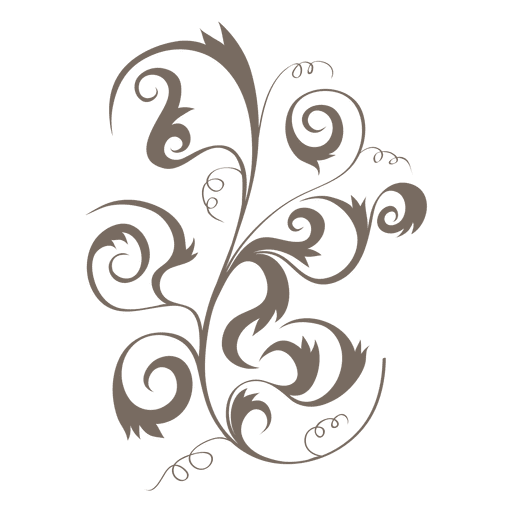clipart royalty free stock Curly swirls floral decoration ornament