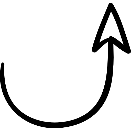png freeuse Semicircular up free arrows. Swirly arrow clipart.