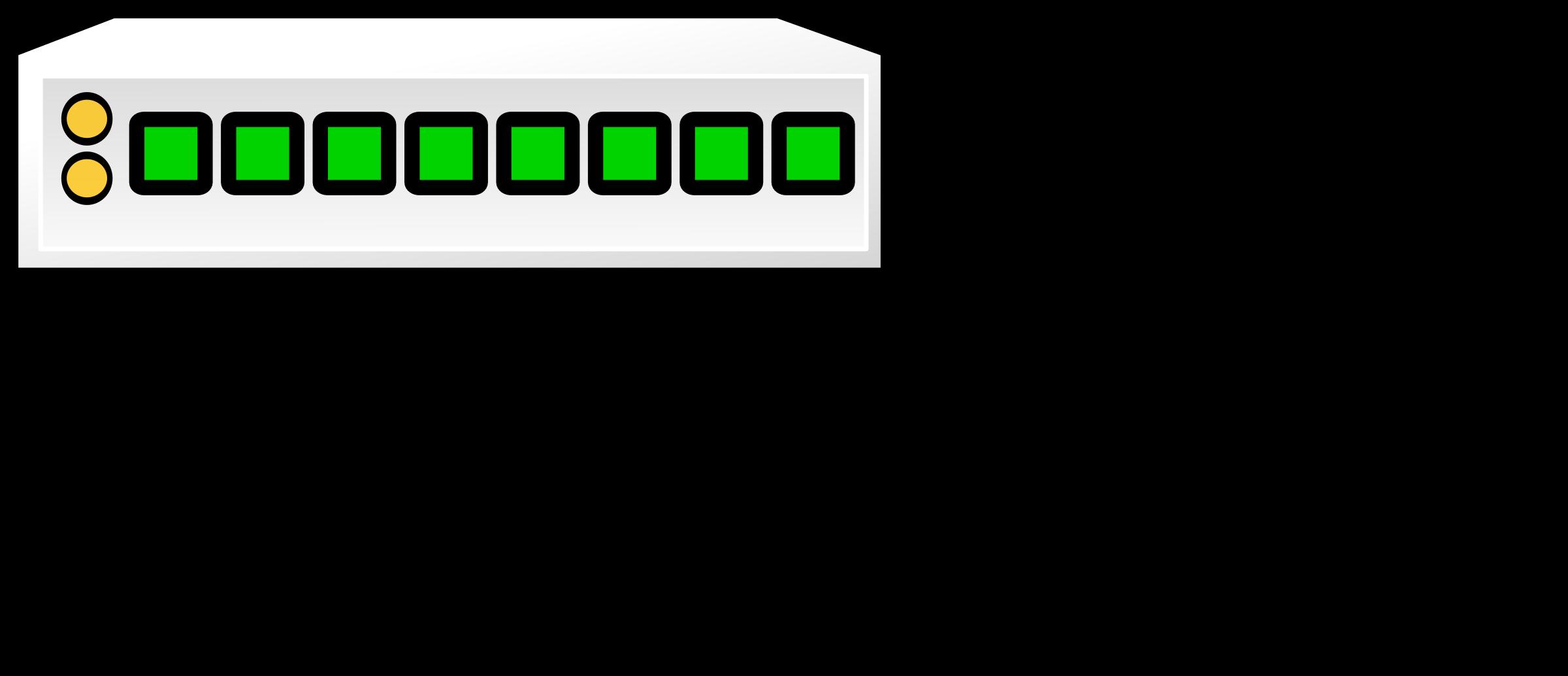 clip art freeuse download Denco big image png. Switch clipart 8 port.