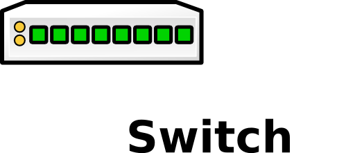 vector library download Switch clipart 8 port.  denco i royalty.
