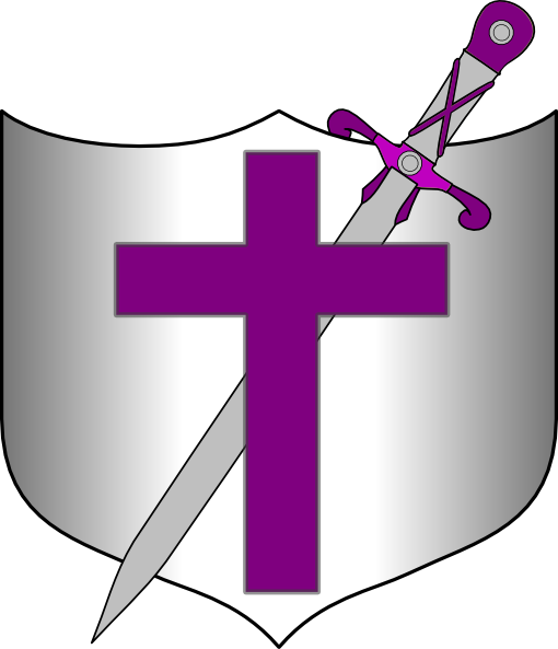 png free stock Cross Sword And Shield Clip Art at Clker