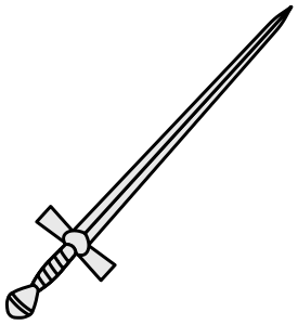 clip art royalty free download sword svg interlocking #116146761