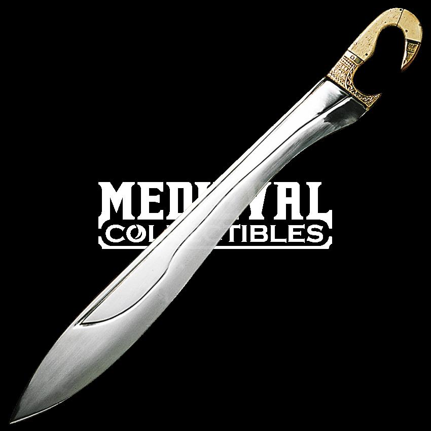 jpg stock Kopis Sword with Bone and Brass Handle
