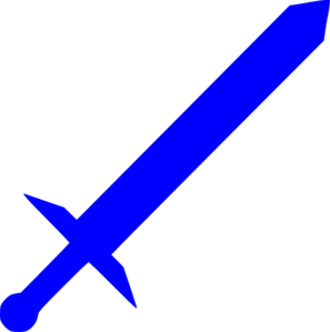 clipart free stock Royal Blue Sword Clip Art at Clker