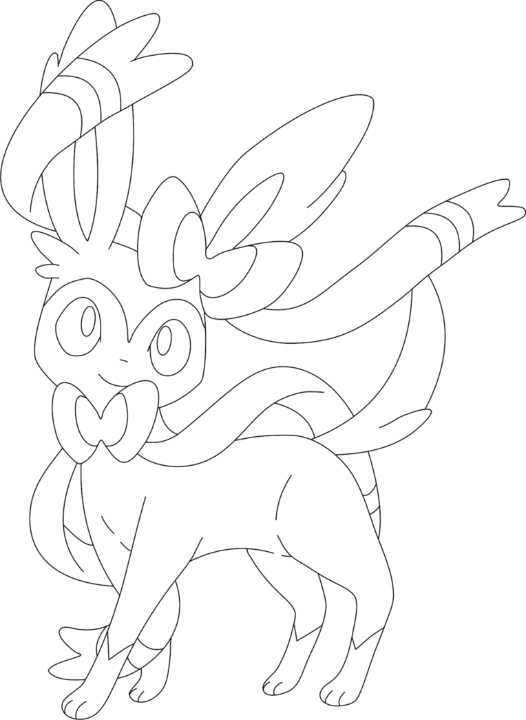 graphic black and white Sylveon Drawing at GetDrawings