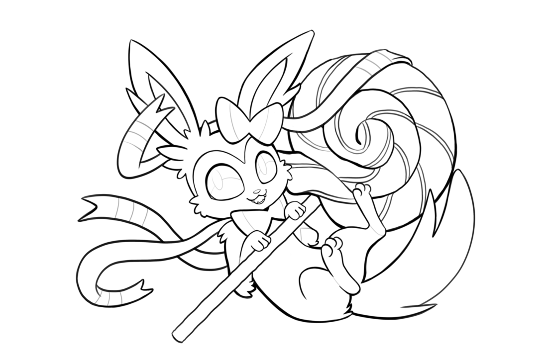 clip black and white stock Pokemon