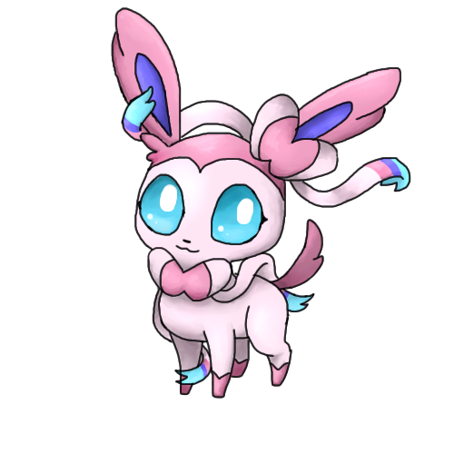 clip art library library Sylveon by PinkyMaggie on DeviantArt