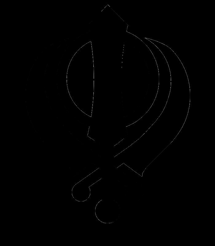 image freeuse download Transparent symbol. Khanda png stickpng miscellaneous.
