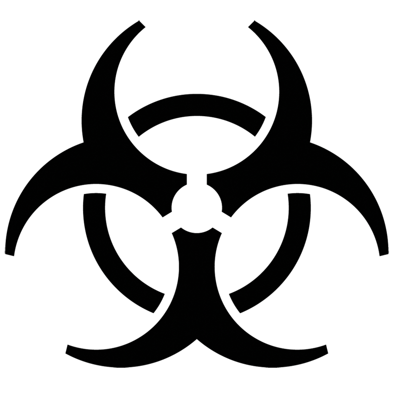 clip art black and white stock Symbol transparent. Biohazard png stickpng.