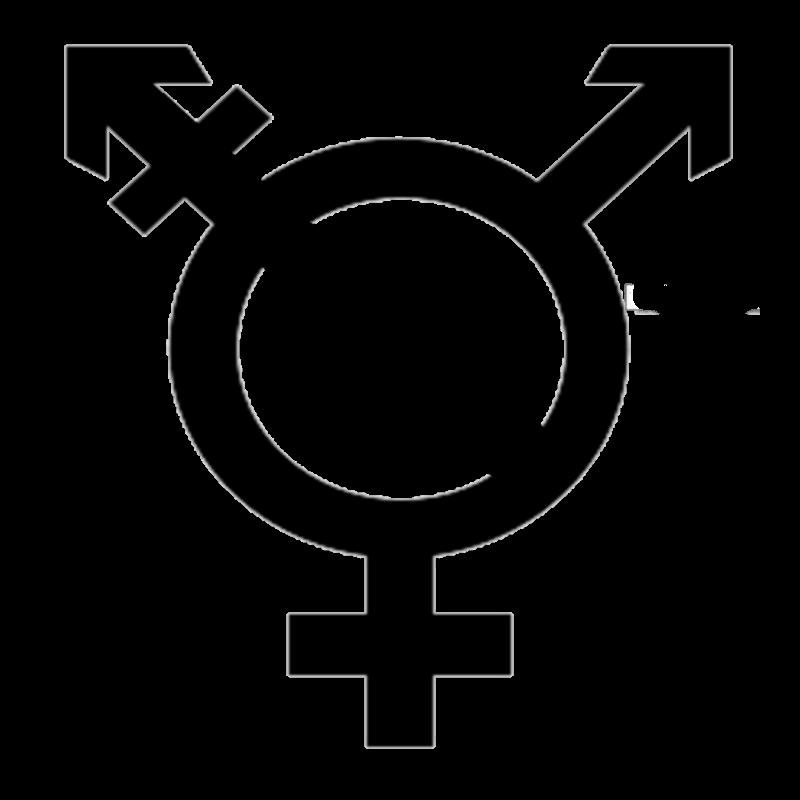 graphic library stock Image transgender with agender. Symbol transparent.