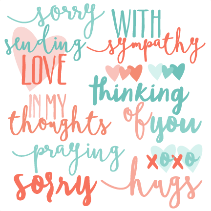 clip royalty free Sympathy clipart. With words set svg