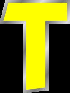 graphic Letter . T clipart
