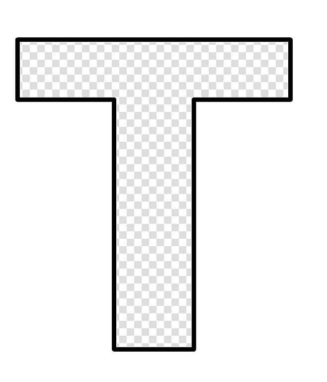 clip freeuse Moldes letter text transparent. T clipart