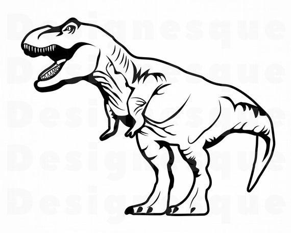 vector free library Svg trex dinosaur files. T rex clipart.