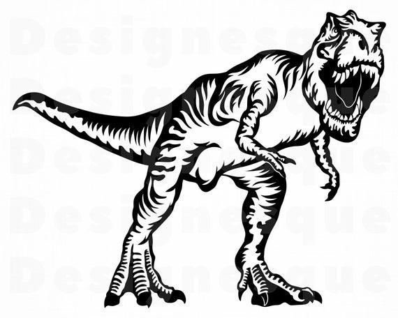 graphic transparent stock T rex clipart. Svg trex dinosaur files.