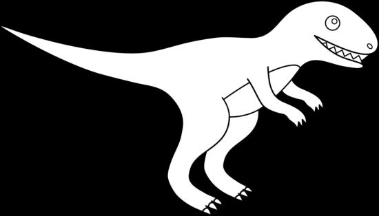vector royalty free stock Tyrannosaurus Rex Line Art