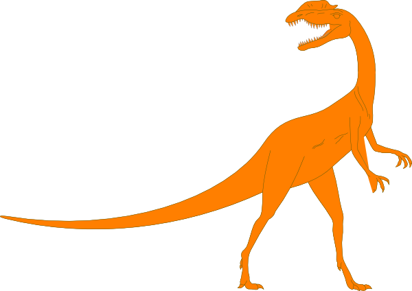 vector T rex clipart orange. Dino clip art at