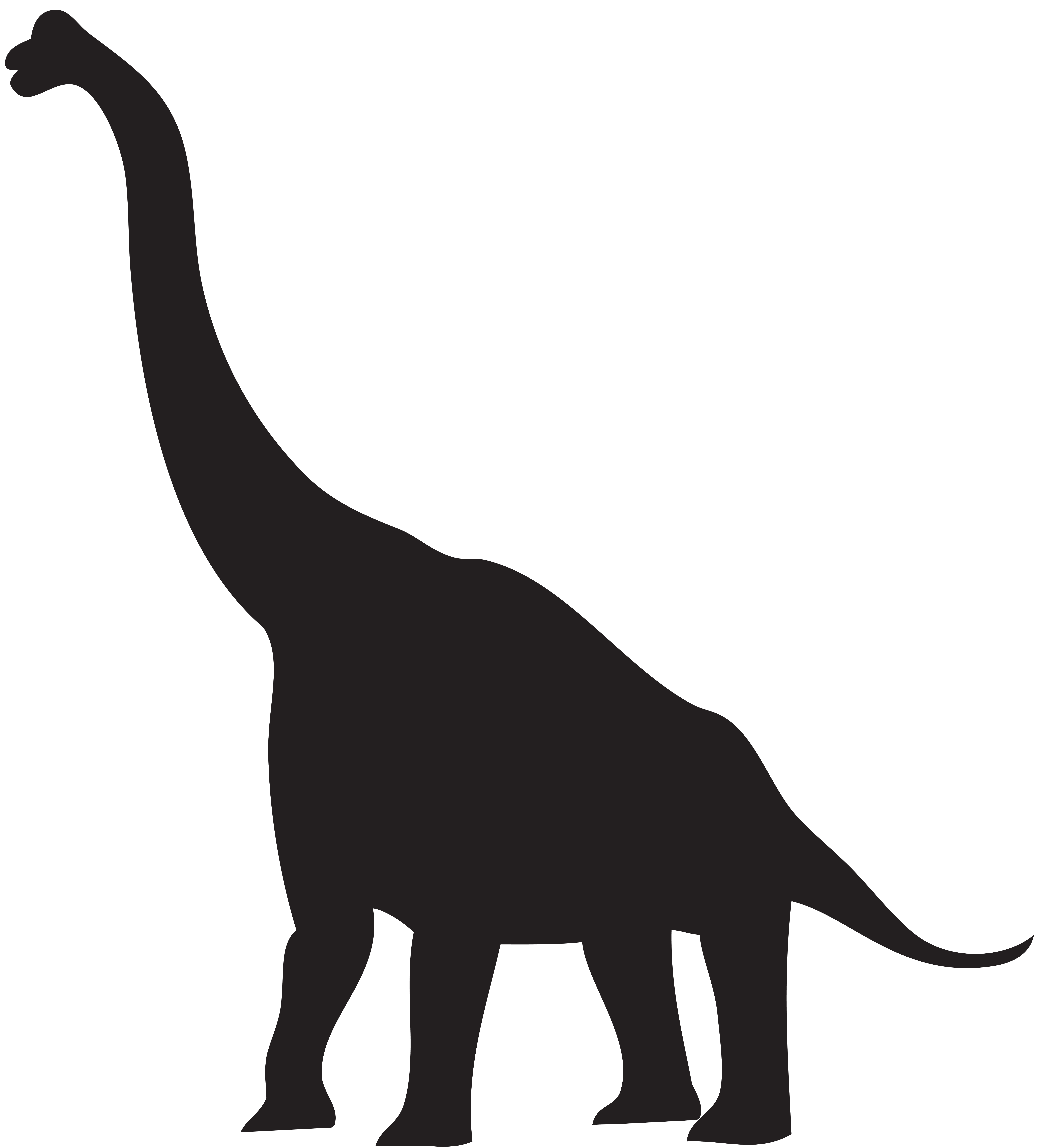 transparent Dinosaur Silhouette Clipart at GetDrawings