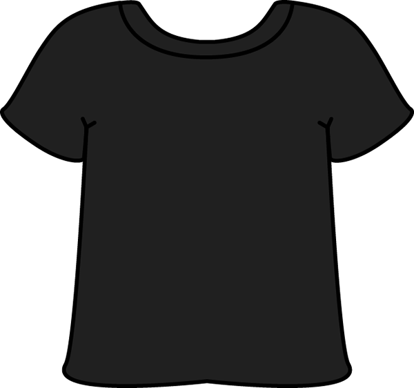 clip art transparent library Black T Shirt Silhouette at GetDrawings
