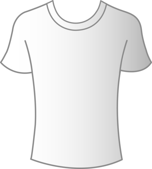 image stock Mens White T Shirt Template
