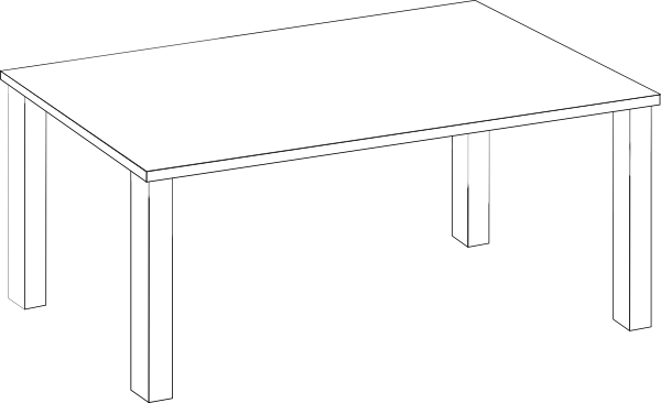 clip royalty free library Table Clipart Black And White