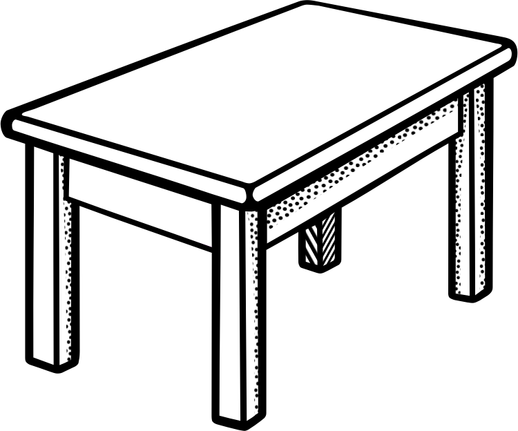 png transparent Table black and white clipart. Free download clip art