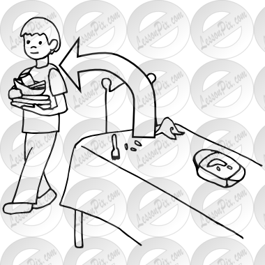 black and white download Table clipart black and white. Clear the outline for