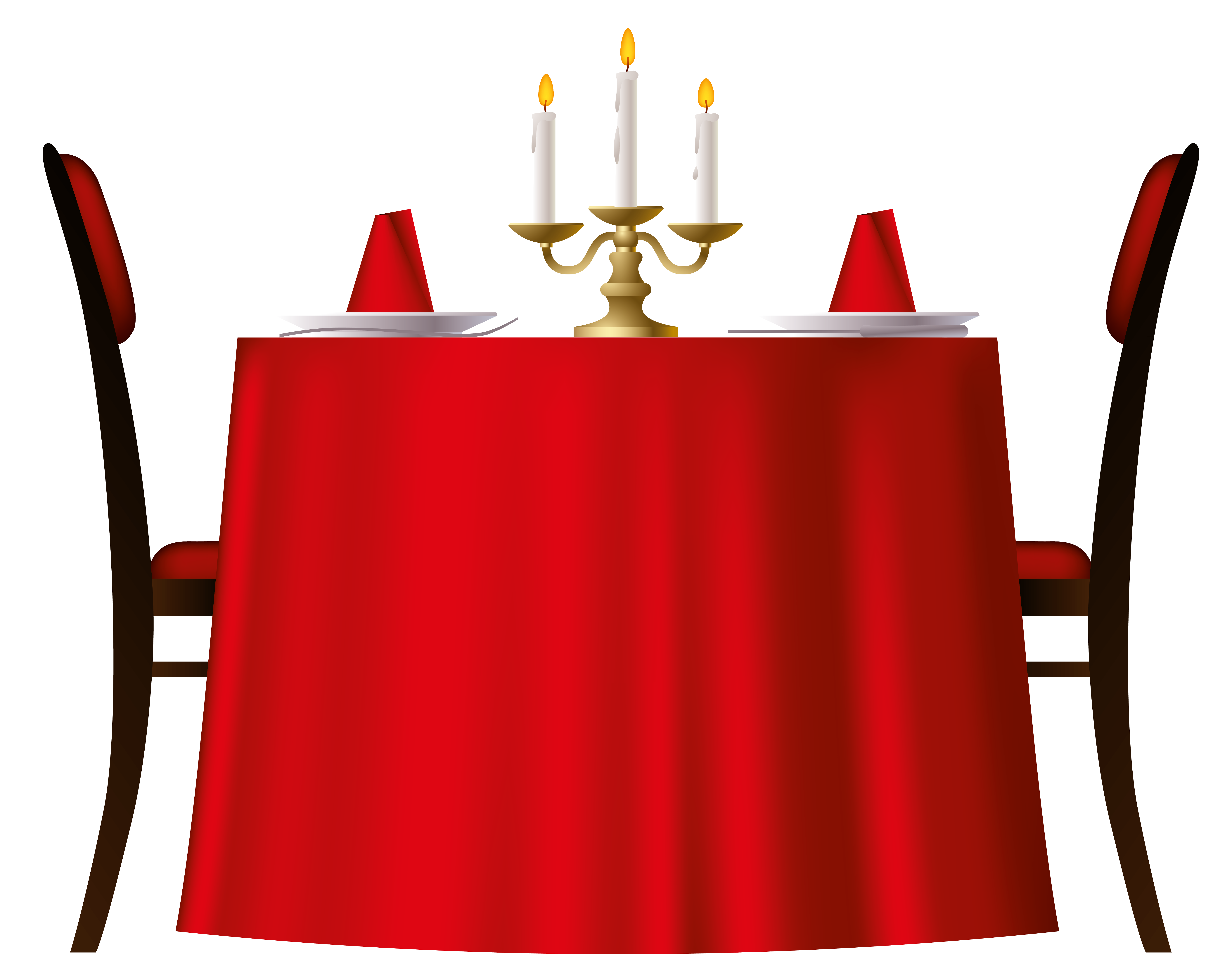 jpg free stock Red table png image. Transparent candle romantic