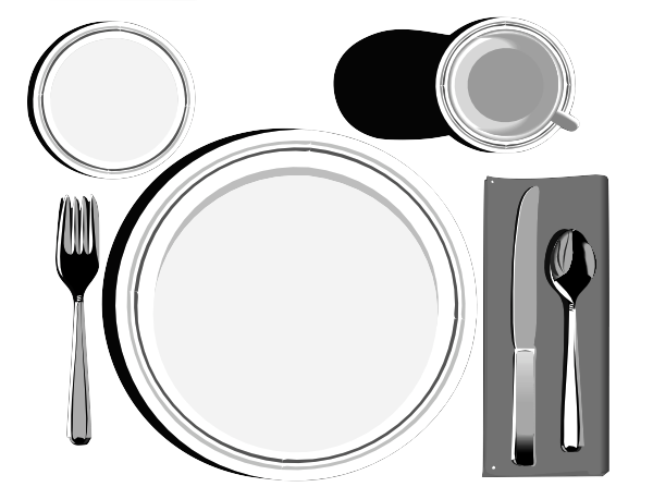 clip royalty free download Place Setting Hi