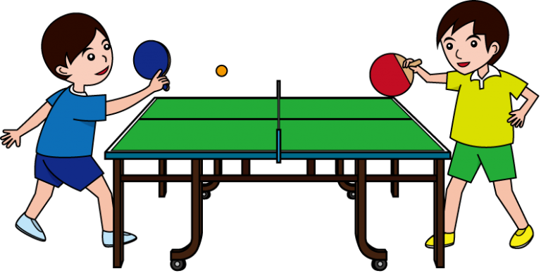 banner black and white library Image of playing ping. Table tennis clipart
