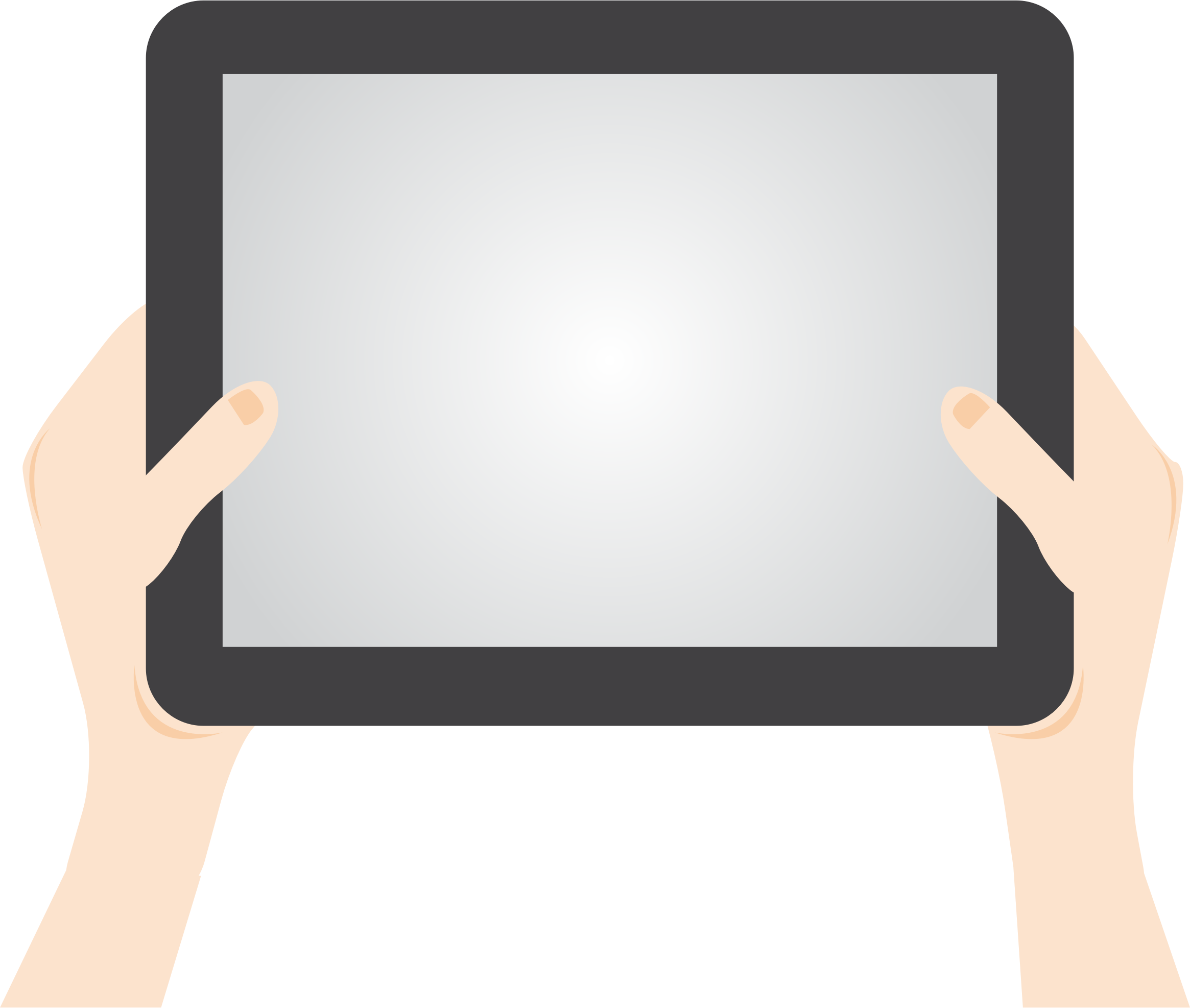 png library library Tablet clipart. Person holding big image