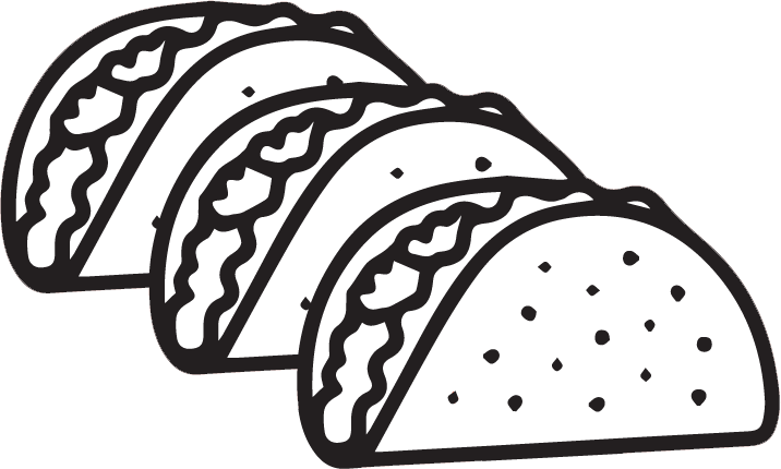 picture library download Tacos cilpart homely inpiration. Grill clipart black and white