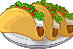 clipart black and white Tacos Clipart mexican food