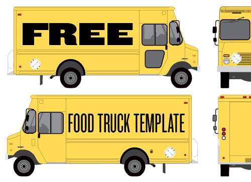 graphic freeuse download Vector bus food. Truck wrap template by
