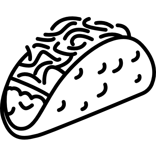 picture royalty free library tacos clipart black and white #50953410