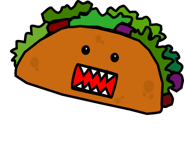 clipart royalty free stock Walking taco clipart. Respect the tacos word
